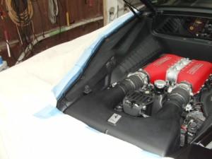 フェラーリ458 リヤビューカメラ取付け