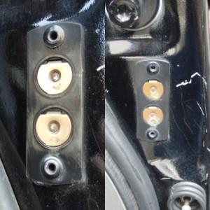 アストロバン スライドドアロック修理